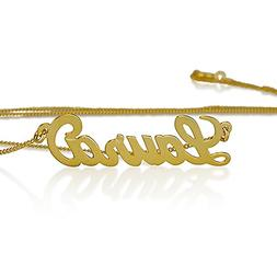 10k Gold Personalized Name Necklace - Name Pendant- Any Name