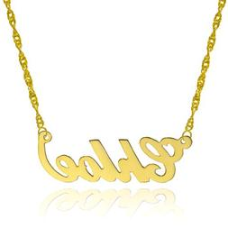 10k Yellow Gold Personalized Name Necklace - Style 3