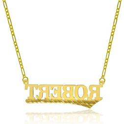 14K Yellow Gold Personalized Name Necklace - Style 6