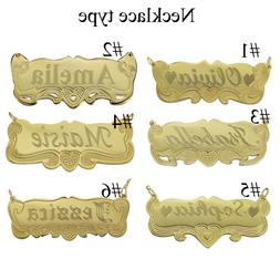 14K Gold Personalized Name Necklace Name Plate  any Name  fo