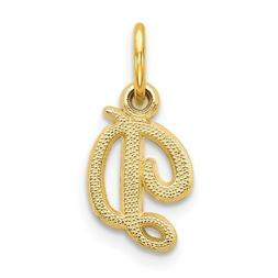 14k Yellow Gold Casted Initial Monogram Name Letter D Pendan
