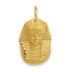 14k Yellow Gold King Tut Pendant Charm Necklace Travel Trans