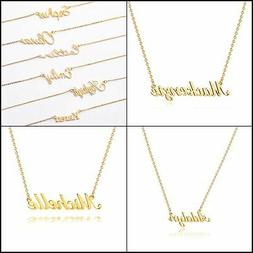 18K Gold Filled Name Necklaces Pendant Cute Gift for Women G
