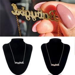 3 Colors Baby Girl Boy Choker Necklace Pendant Name Word Let
