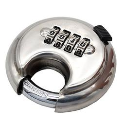 4 Digit Combination Disc Padlock with Hardened Steel Shackle