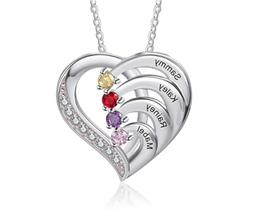 Sterling Silver Personalized Mother Necklaces Women Pendant