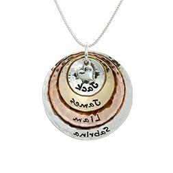 AJ's Collection My Four Treasures Personalized Necklace with