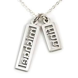 AJ's Collection Personalized Necklace Open Double Sterling S