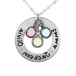 AJ`s Collection Sterling Silver Round Washer Personalized Pe