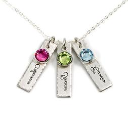 AJ's Collection Unity in Three Personalized Charm Necklace.