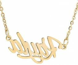 AOLO Gold Plated Carrie Name gGold Necklace, Kayla