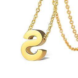 Bala Initial Necklaces Gold S Personalized Letter for Women