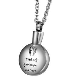 COCO Park Angel Wing Watching Over You Urn Pendant Stainless