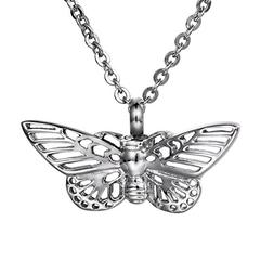 COCO Park Butterfly Cremation Necklace, Urn Pendant for Ashe
