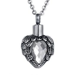 COCO Park Cremation Jewelry Stainless steel Angel Wing Heart