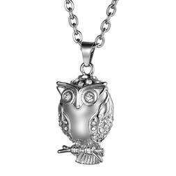 COCO Park Crystal Owl Urn Pendant Cremation Jewelry Ashes Ho