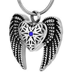 COCO Park Eagle Wing Love Heart Cremation Jewelry Ashes Memo