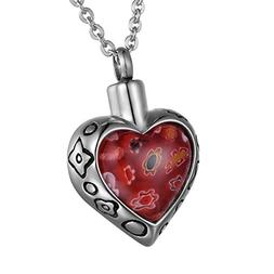 COCO Park Love Heart Stone Urn Necklaces - Miss You Personal