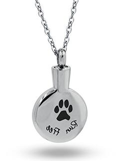 COCO Park Run Free Pet Paw Keepsake Necklace for Ashes Stain