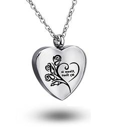 COCO Park Stainless Steel Cremation Jewelry Always in my hea