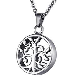 COCO Park Tree of Life Cremation Jewelry Stainless Steel Urn