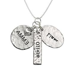 Chic and Modern Love Personalized Sterling Silver Name Neckl