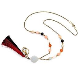 Crimmy - Fashion Beaded Necklace Lanyards for Women - Copper