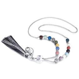 Crimmy - Fashion Beaded Necklace Lanyards for Women - Stainl