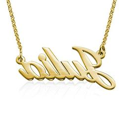Customized Name Necklace in 18K Gold Plated Sterling Silver