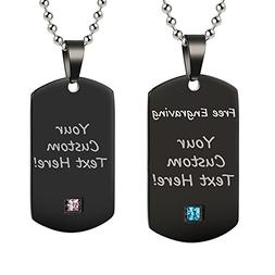 GAGAFEEL Personalized Custom Engraved Message Couple Friends