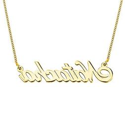 HACOOL 925 Sterling Silver Personalized Name Necklace Made w