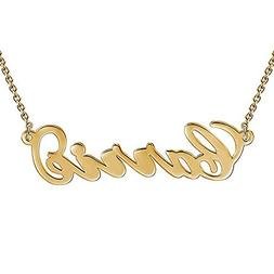 HACOOL Custom Name Necklace Personalized Necklace Rose Gold
