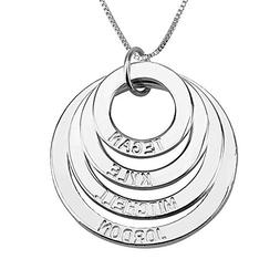 HACOOL Personalized 925 Sterling Silver 4 Discs Customized F