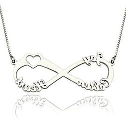 HACOOL Sterling Silver Customized Unique Family Names Neckla