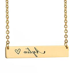HUAN XUN Aylin Name Hacool Personalized Name Necklace Bar In