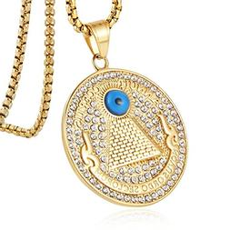 HZMAN 18k Gold Plated Novus Ordo Seclorum Stainless Steel An