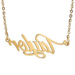 Huan XUN Gold Plated Named Calligraphy Best Friend Necklaces