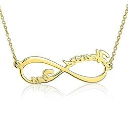 LONAGO Personalized Infinity Name Necklace Infinite Love Ete