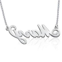 LONAGO Personalized Name Necklace Custom Nameplate Cupreous