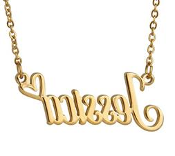 Love Wind Monogrammed Customized Initial Name Necklace Heart