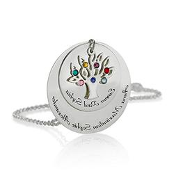 Mother Necklace Personalized Family Necklace Birthstones Pen