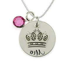 My Little Princess Personalized Sterling Silver Name Necklac