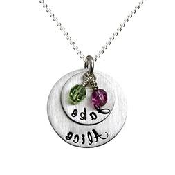My Two Joys Personalized Sterling Silver Name Necklace. Cust