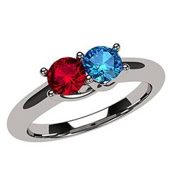 NANA Lucita Couples 2 Stones Ring with His & Hers Simulated