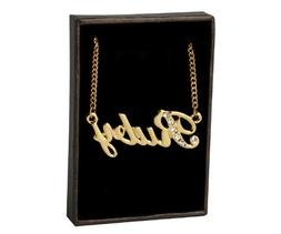 """Name Necklace """"Ruby"""" 18K Gold Plated"""