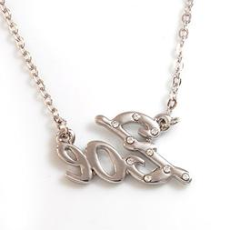 Name Necklaces Zoe - Personalized Necklace White Gold Plated
