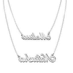Ouslier 925 Sterling Silver Personalized Layered Necklace Je