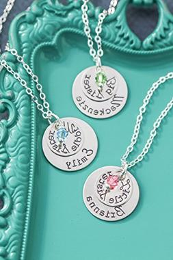 Personalized Big Sister Necklace – DII AAA - Little Middle