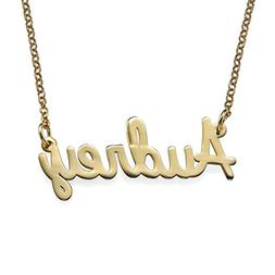 Personalized Name Necklace Cursive Font 18k Plated-Necklace