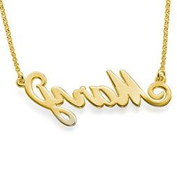 Personalized Name Necklace in 18k Gold Plated Sterling Silve